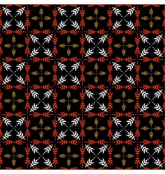 seamless checked pattern with crosses vector image vector image