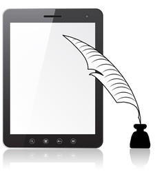 Tablet PC laptop vector image vector image