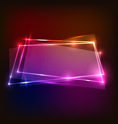 abstract background with colorful neon banners vector image vector image
