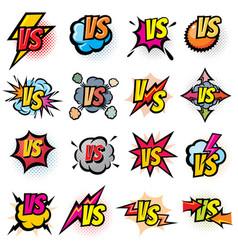 battle competition versus logos set vs vector image
