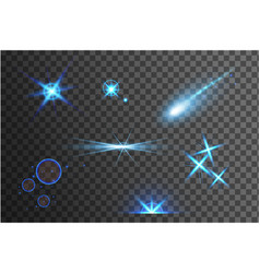 blue bright light effects vector image