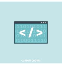 Custom Coding vector image vector image
