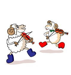 lambs are musicians vector image