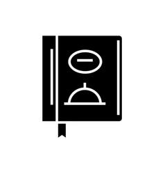menu - lunch icon black sign vector image