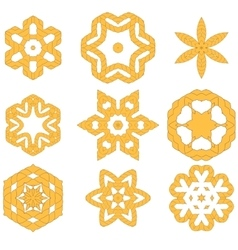 Set of different rope ornaments vector