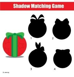 Shadow matching game Christmas winter holidays vector image