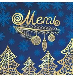 Winter menu vector image vector image