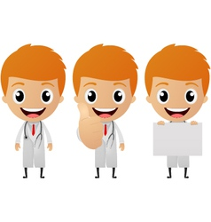 young doctor cartoon vector image vector image