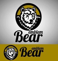 bear emblem vector image vector image