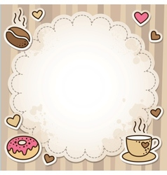 coffee frame vector image vector image