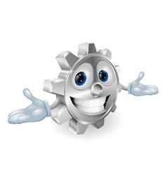 Cog cartoon character vector