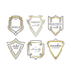 graphical shields vector image