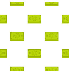 green money banknote pattern flat vector image vector image