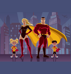 Superhero family 2 vector