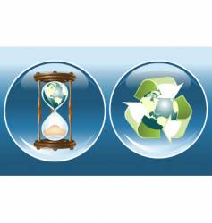 ecological symbols vector image vector image