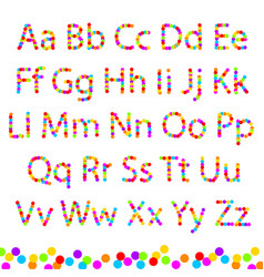 font color of the circles vector image