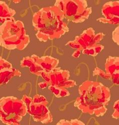 poppy pattern vector image vector image