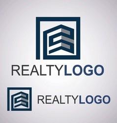 realty logo 5 4 vector image vector image