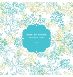 Scattered blue green branches frame seamless vector image vector image