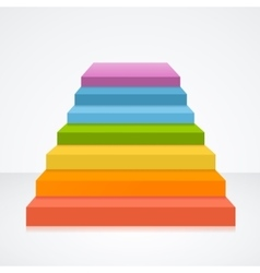 Stairs in rainbow colors vector