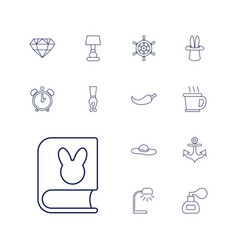 13 vintage icons vector