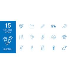 15 sketch icons vector