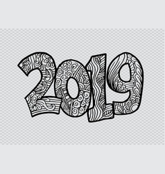2019 hand lettering for card poster banner vector image
