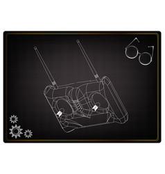 3d model of radio remote control on a black vector