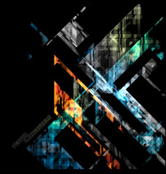 Abstract angle shapes geometry on a black vector