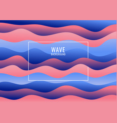 Abstract blue and pink wave pattern background vector
