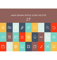 Abstract collection of flat line design icons vector