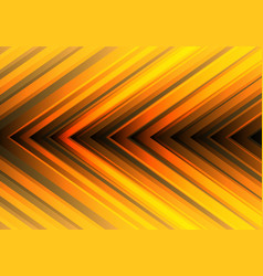 abstract yellow light arrow direction design vector image