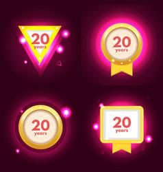 anniversary 20 icon vector image