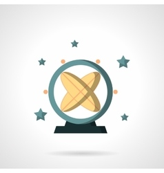 Astronomy pendulum flat color design icon vector image