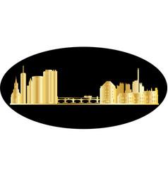 basel gold city skyline vector image