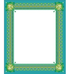Border in green coloring vector image