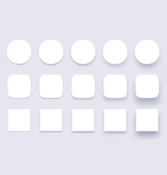 button shadows simple shape shadow clear buttons vector image