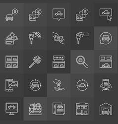Car dealership icon vector