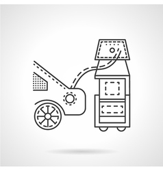 Car emission control line icon vector image