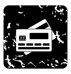 Card icon grunge style vector image