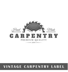 carpentry label vector image