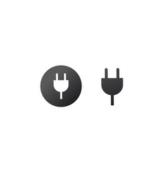 charger wall plug icon charger sign for web and vector image