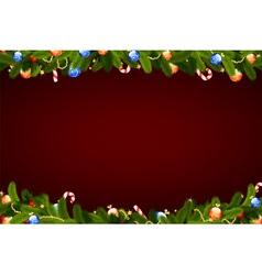 christmas frame with fir tree vector image