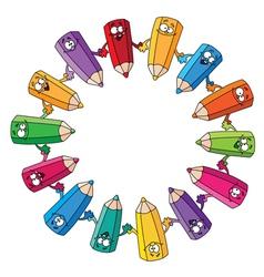 circle pencils vector image