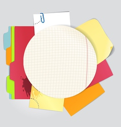 Circular background of an color office stuff vector image