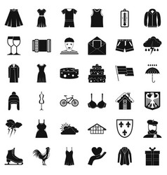 Clothing icons set simple style vector
