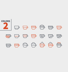 coffee types food ui pixel perfect well-crafted vector image