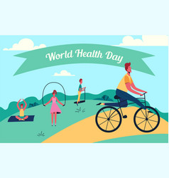 colorful of world health day vector image