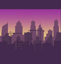 construction a new skyscraper an increase in vector image