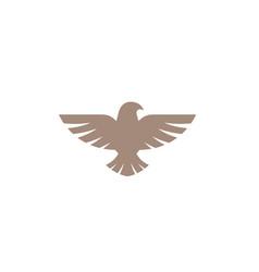 creative abstract eagle bird logo design symbol vector image